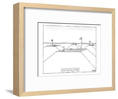 The Highline at Giza - New Yorker Cartoon-Jack Ziegler-Framed Art Print
