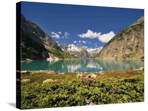 Mountain Lake-Philippe Sainte-Laudy-Stretched Canvas Print