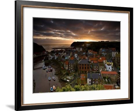 Dawn over Staithes-Doug Chinnery-Framed Art Print