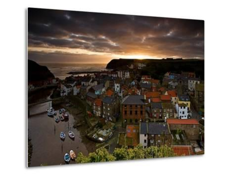 Dawn over Staithes-Doug Chinnery-Metal Print