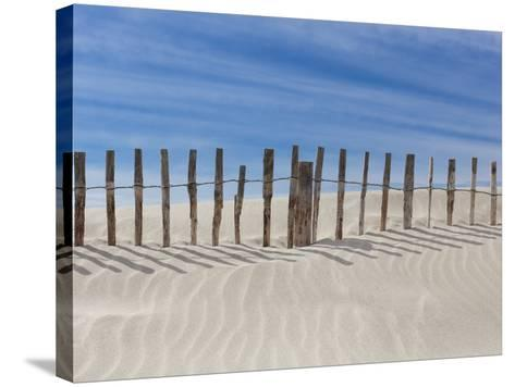 Fence on the Shore-Marco Carmassi-Stretched Canvas Print