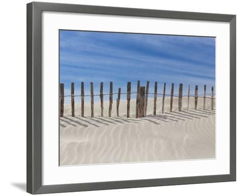Fence on the Shore-Marco Carmassi-Framed Art Print