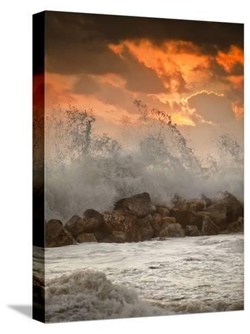 Foamy Sunset-Marco Carmassi-Stretched Canvas Print