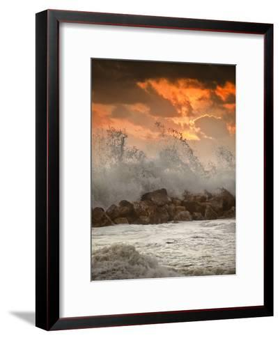 Foamy Sunset-Marco Carmassi-Framed Art Print