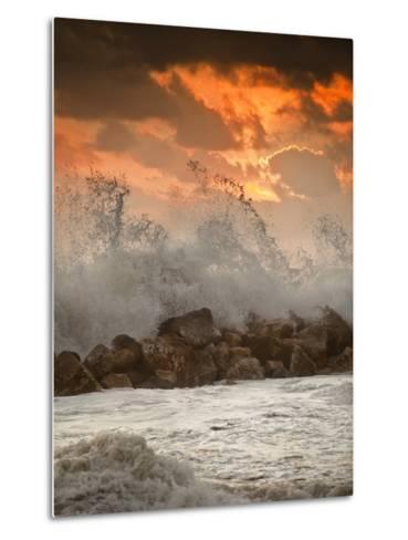 Foamy Sunset-Marco Carmassi-Metal Print