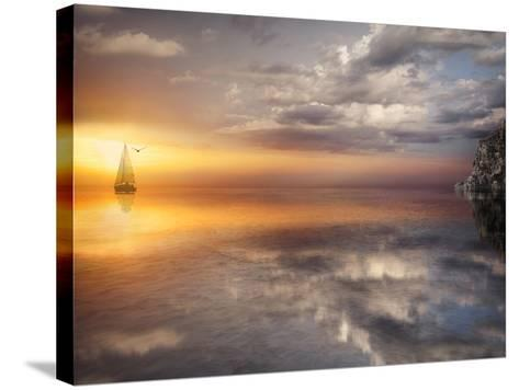 Sail and Sunset-Marco Carmassi-Stretched Canvas Print