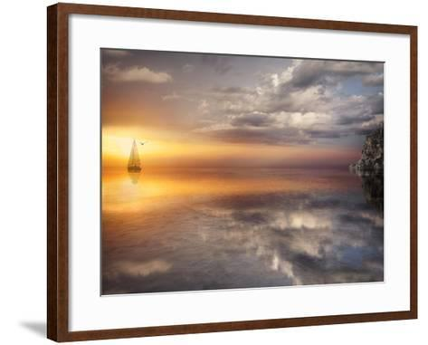 Sail and Sunset-Marco Carmassi-Framed Art Print