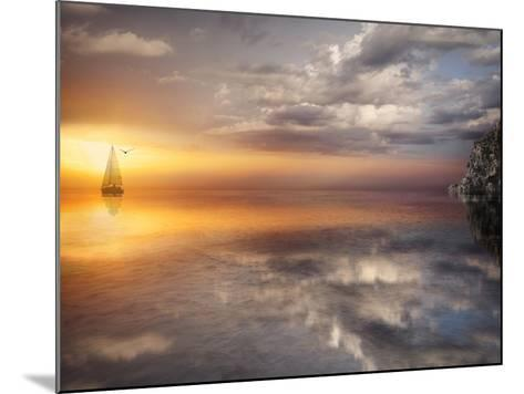Sail and Sunset-Marco Carmassi-Mounted Photographic Print