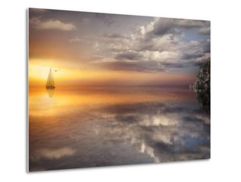 Sail and Sunset-Marco Carmassi-Metal Print
