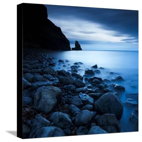 Talisker Bay under a Winter Moon-Doug Chinnery-Stretched Canvas Print