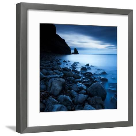 Talisker Bay under a Winter Moon-Doug Chinnery-Framed Art Print