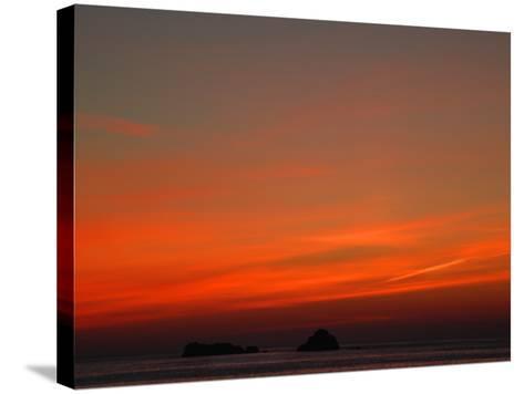 Red Sky at Night-Magda Indigo-Stretched Canvas Print