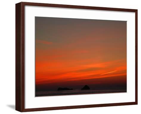 Red Sky at Night-Magda Indigo-Framed Art Print