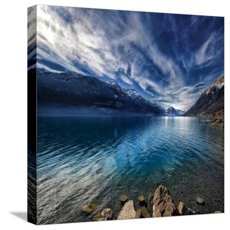 Blue Mountains-Philippe Sainte-Laudy-Stretched Canvas Print
