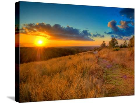 Sunset in the French Countryside-Philippe Manguin-Stretched Canvas Print