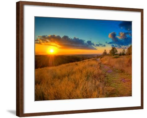Sunset in the French Countryside-Philippe Manguin-Framed Art Print