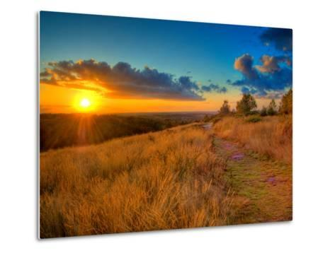 Sunset in the French Countryside-Philippe Manguin-Metal Print