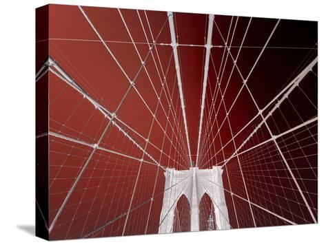 Brooklyn Bridge-Philippe Sainte-Laudy-Stretched Canvas Print