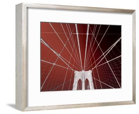 Brooklyn Bridge-Philippe Sainte-Laudy-Framed Art Print