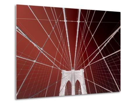 Brooklyn Bridge-Philippe Sainte-Laudy-Metal Print