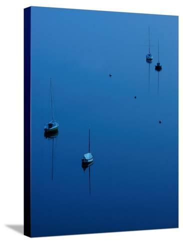 Blue Evening on Britany-Philippe Manguin-Stretched Canvas Print