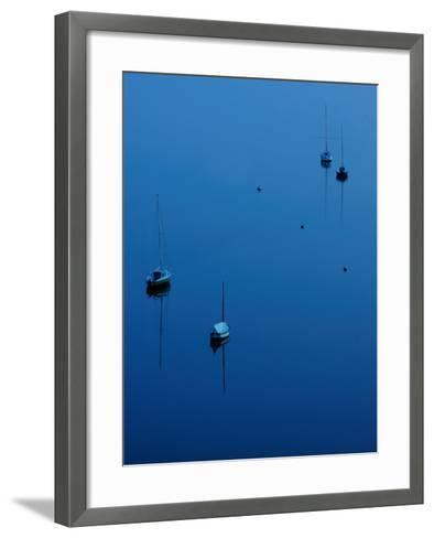 Blue Evening on Britany-Philippe Manguin-Framed Art Print