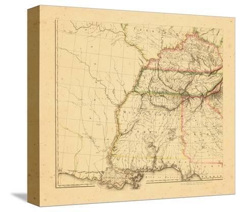 1812, Alabama, Georgia, Kentucky, Louisiana, Mississippi, Tennessee--Stretched Canvas Print