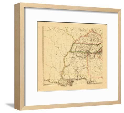 1812, Alabama, Georgia, Kentucky, Louisiana, Mississippi, Tennessee--Framed Art Print