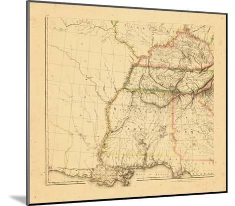 1812, Alabama, Georgia, Kentucky, Louisiana, Mississippi, Tennessee--Mounted Giclee Print