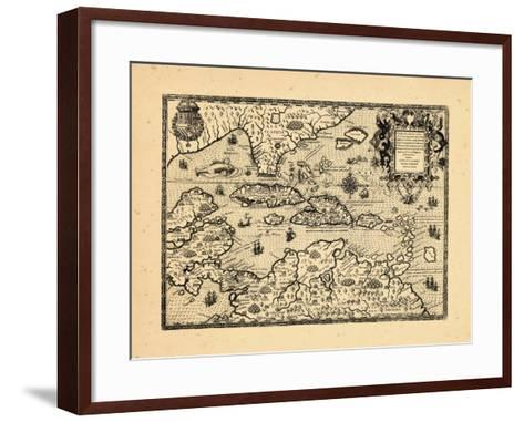 1594, West Indies--Framed Art Print