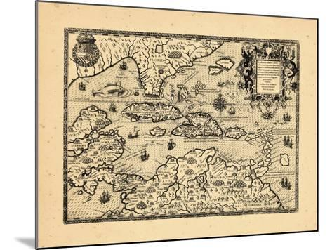 1594, West Indies--Mounted Giclee Print