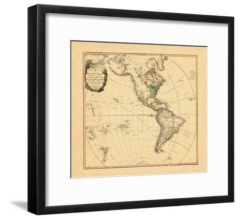 1797, North America, South America--Framed Art Print