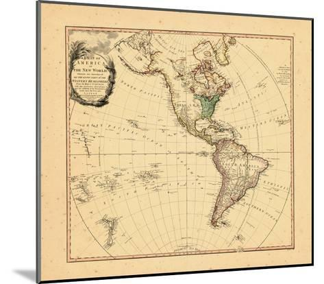 1797, North America, South America--Mounted Giclee Print