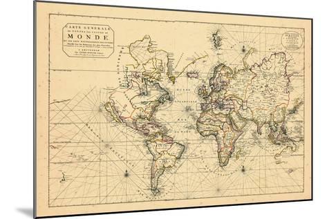 1703, World--Mounted Giclee Print