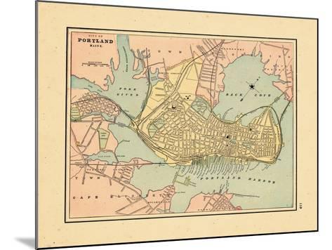 1891, Portland Maine--Mounted Giclee Print