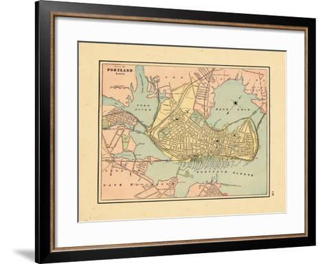 1891, Portland Maine--Framed Art Print