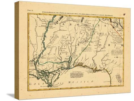 1778, Alabama, Florida, Louisiana, Mississippi, North Carolina--Stretched Canvas Print