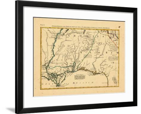 1778, Alabama, Florida, Louisiana, Mississippi, North Carolina--Framed Art Print