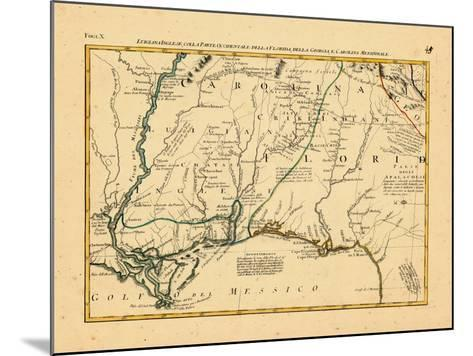 1778, Alabama, Florida, Louisiana, Mississippi, North Carolina--Mounted Giclee Print