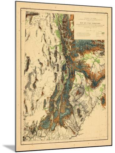 1878, Utah--Mounted Giclee Print