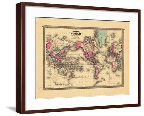 1865, World--Framed Art Print