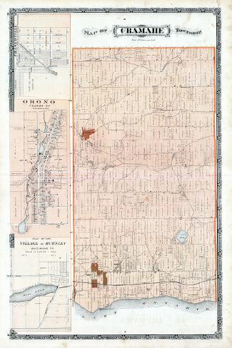 1878, Cramahe Township, Orono, Burnley Village, Canada--Stretched Canvas Print