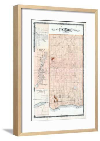 1878, Cramahe Township, Orono, Burnley Village, Canada--Framed Art Print