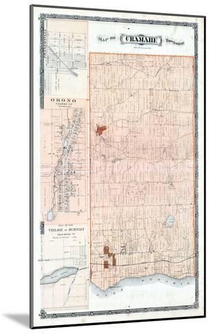 1878, Cramahe Township, Orono, Burnley Village, Canada--Mounted Giclee Print