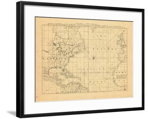 1739, North America, Atlantic Ocean--Framed Art Print