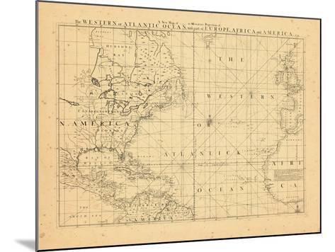 1739, North America, Atlantic Ocean--Mounted Giclee Print