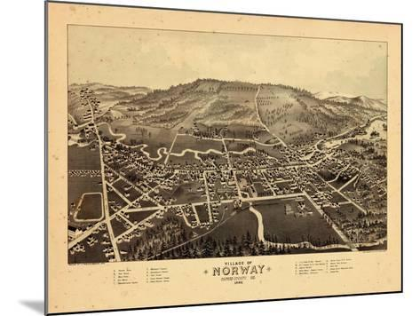 1886, Norway, Maine--Mounted Giclee Print