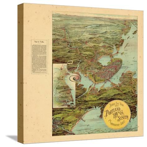 1909, Portland, Maine--Stretched Canvas Print