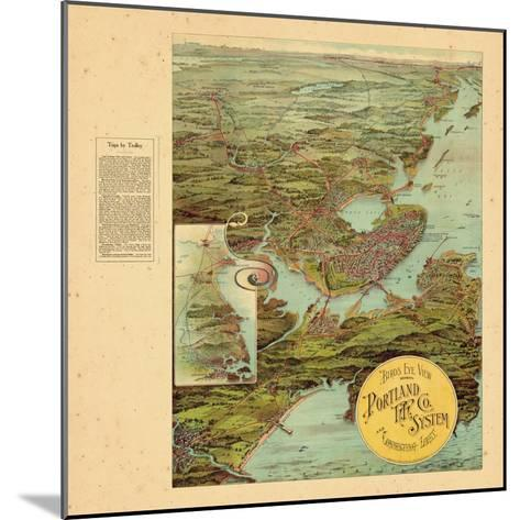 1909, Portland, Maine--Mounted Giclee Print