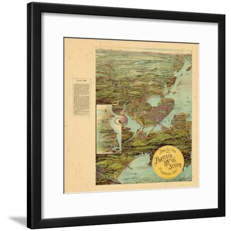 1909, Portland, Maine--Framed Art Print